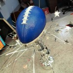 EASY DIY Football Party Centerpiece! A Dollar Store Craft!