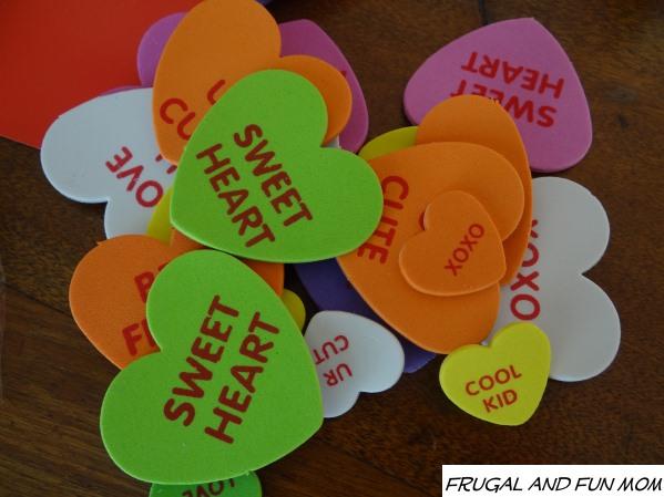 Foam Conversation Hearts Stickers from  Oriental Trading