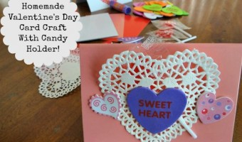 Homemade Valentine's Day Card Candy Holder! An Oriental Trading DIY Craft!