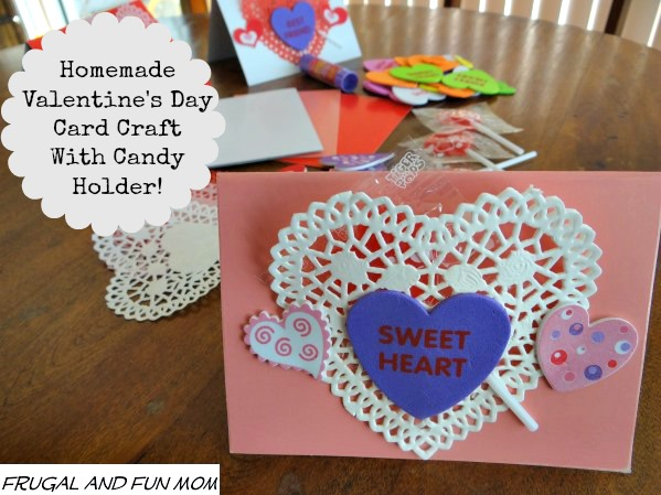 Homemade Valentine's Day Card with Craft Supplies from Oriental Trading