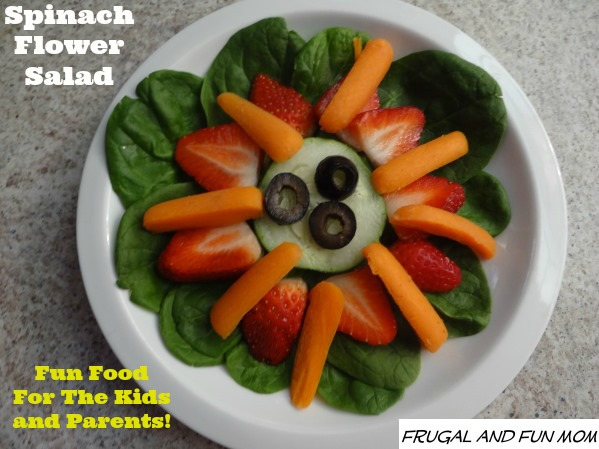 Spinach Flower Salad Fun For the Family