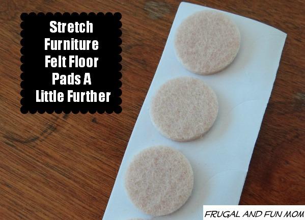 Stretch Furniture Felt Floor Pads A Little Further! DIY Frugal Living Tip!