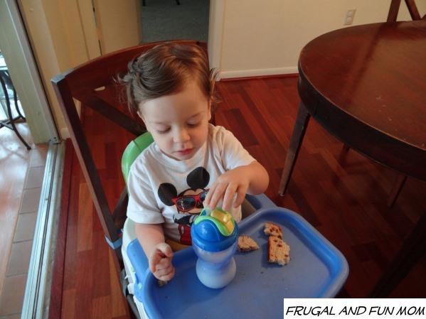 Toddler using Flip it