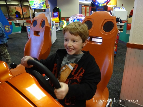 Playing a Game at Chuck E Cheese