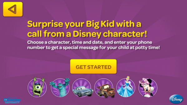 Big Kid App Pull-Ups Free Disney Character Call