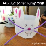 Milk Jug Easter Bunny Craft! Easy DIY Decoration and Can Be a Planter!