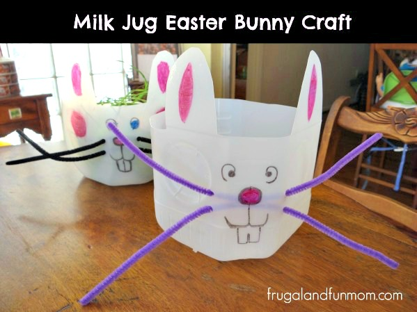 Bunny-out-of-a-Milk-Jug Craft