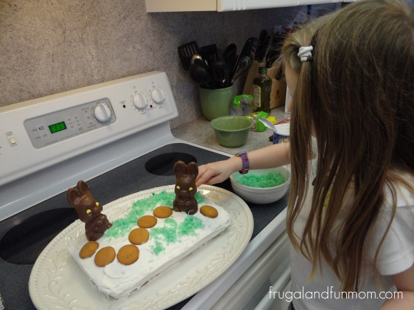 Decorating-the-Bunny-Trail-Cake