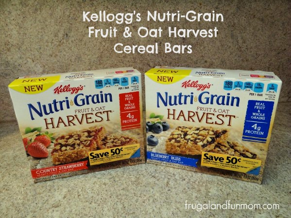 Kellogg's Nutri-Grain Fruit & Oat Harvest Cereal Bars!