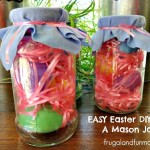 Easter Decoration Made With A Spaghetti Sauce Container! An EASY DIY Mason Jar Craft!