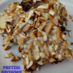Pretzel Brownie Recipe!  An EASY Sweet and Salty Crunchy Dessert!
