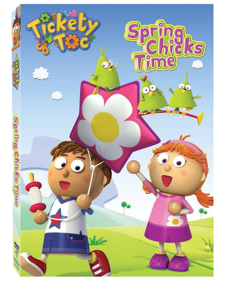 """Spring Chicks Time"" With FREE Printable Coloring Sheet!  Enter A Tickety Toc DVD Giveaway!"