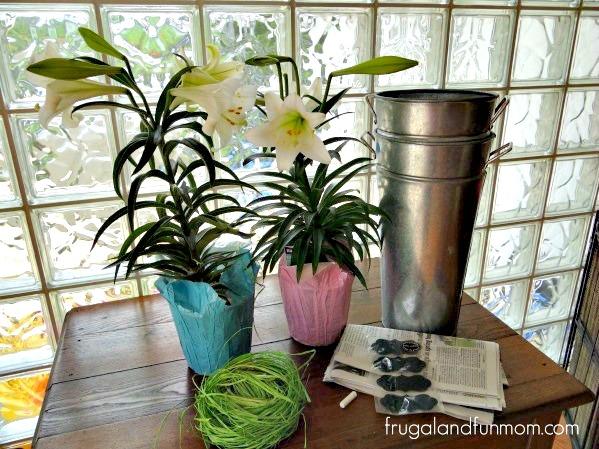 Transforming Garage Sale Galvanized Buckets Into Spring Decorations