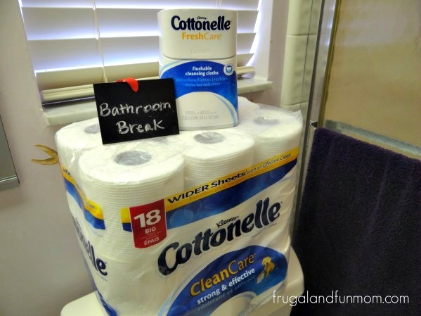 Bathroom Break With Cottonelle Products
