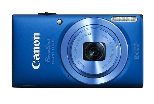 Canon - PowerShot ELPH 115 IS Digital Camera - Blue Best Buy