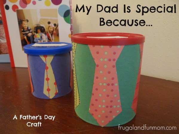 My Dad Is Special Because Craft! A Kids #DIY Upcycling #Gift For Father's Day! #FathersDay