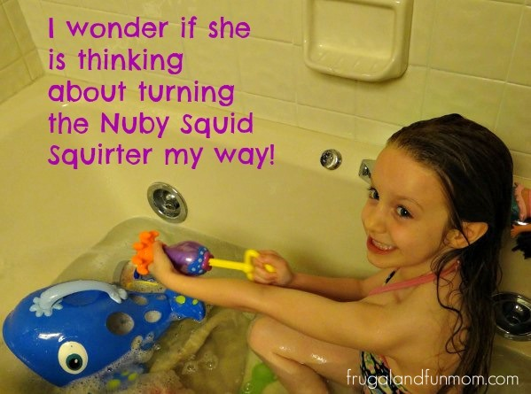 Nuby Squid Squirter in Action