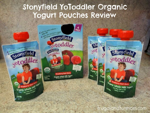 Stonyfield's YoToddler Organic Yogurt Pouches 4 Pack Review
