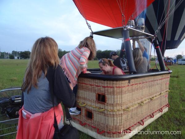 Boarding the Hot Air Balloon Orlando