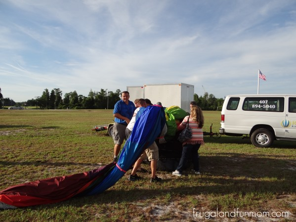 Breaking down the Hot Air Balloon in Orlando
