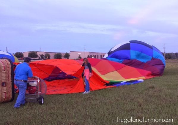 Hot Air Balloon Ride Orlando Setup 3