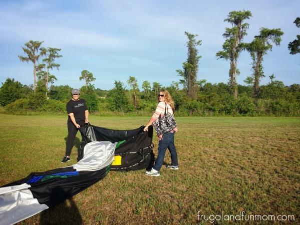 Hot Air Balloon Ride Orlando breaking down 3