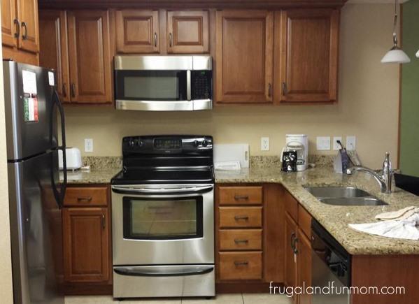 Kitchen at Room at Westgate Lakes Resort and Spa