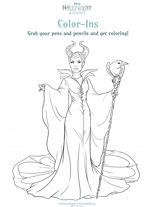 Maleficent Activity and Coloring Sheets