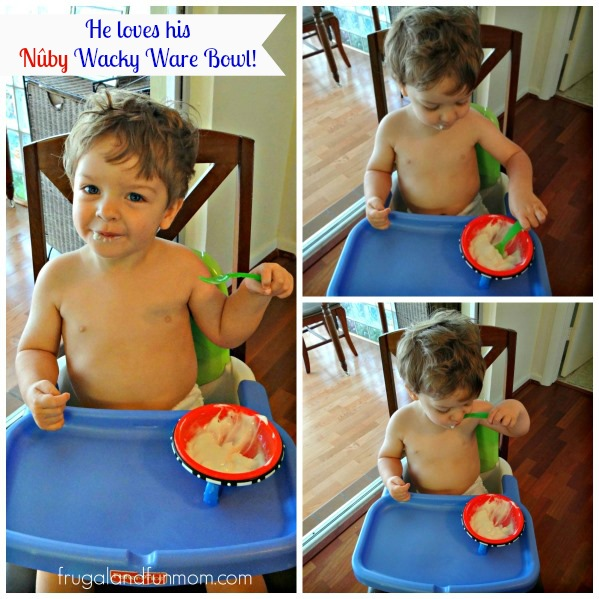 Nuby Wacky Ware Bowl With Toddler