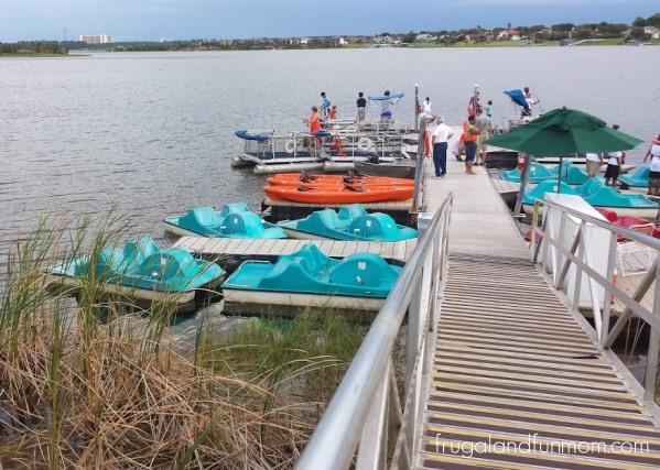 Paddle boats and Kayaks at Westgate Lakes Resort and Spa