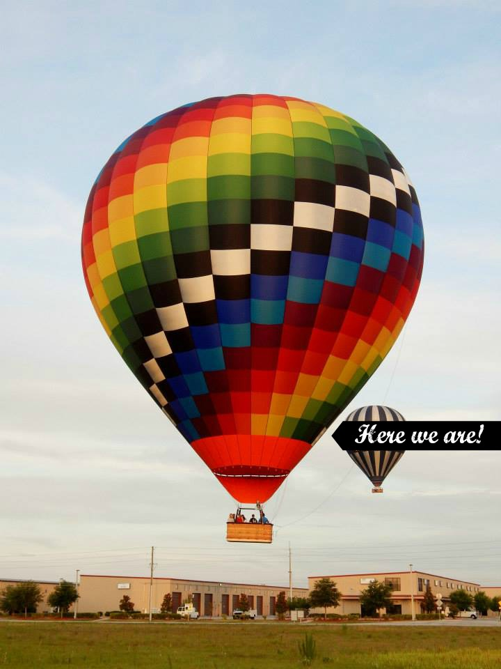 Picture of our Hot Air Balloon from Orlando Balloon Adventures