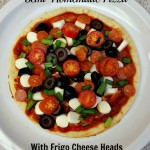 Making Semi-Homemade Pizzas & Having Fun with Frigo Cheese Heads Light String!