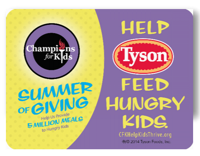 Summer of Giving Shelf Display Champions for Kids