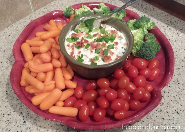 Bacon and Onion Vegetable Dip!  Perfect Party Recipe!
