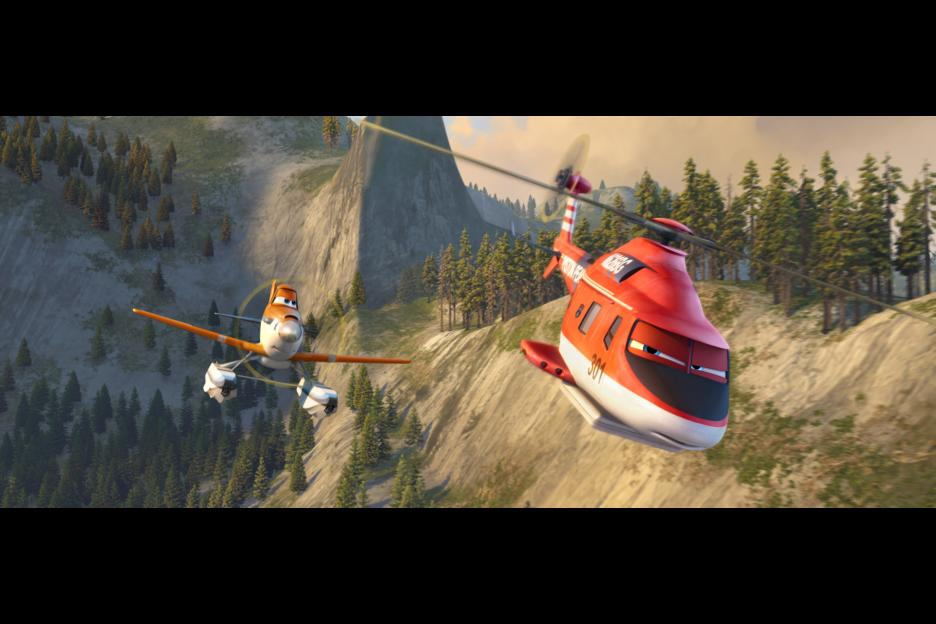 Dusty and Blade Runner Planes Fire and Rescue
