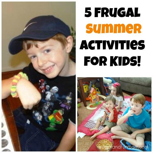 Frugal Summer Activities for kids