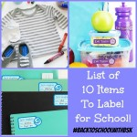 List of 10 Items To Label For School & 15% off Labels Coupon Code! #BacktoSchoolwithBSK