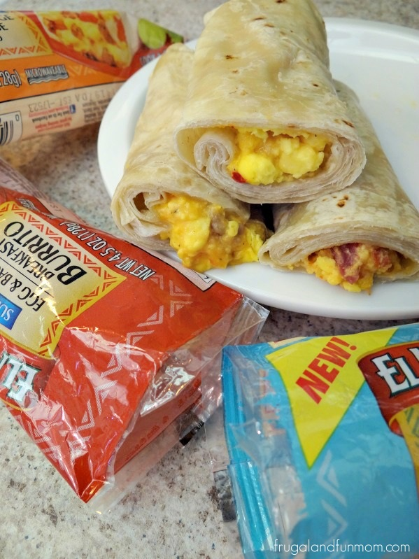 Breakfast Bar With El Monterey Burritos and Peach Salsa