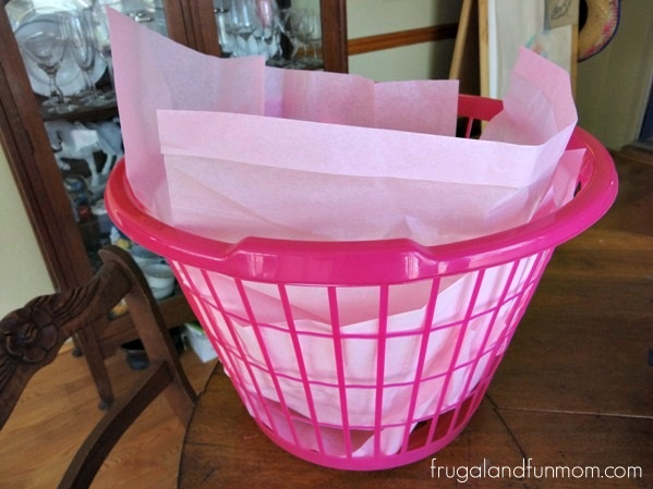 baby shower gift idea with essentials in a laundry basket frugal and fun mom florida mom. Black Bedroom Furniture Sets. Home Design Ideas