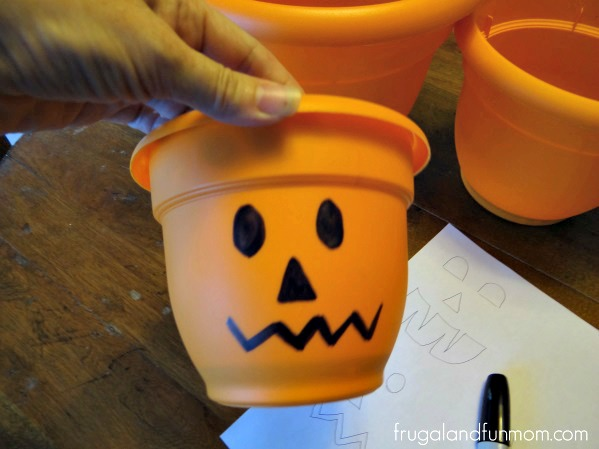 Jack O'Lantern Flower Pots 2