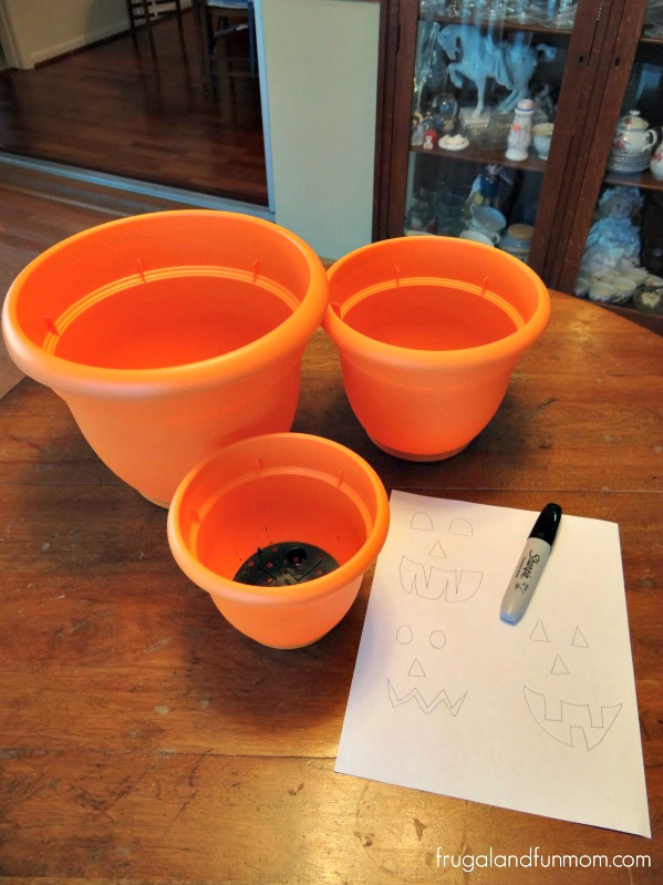 Jack O'Lantern Flower Pots 3