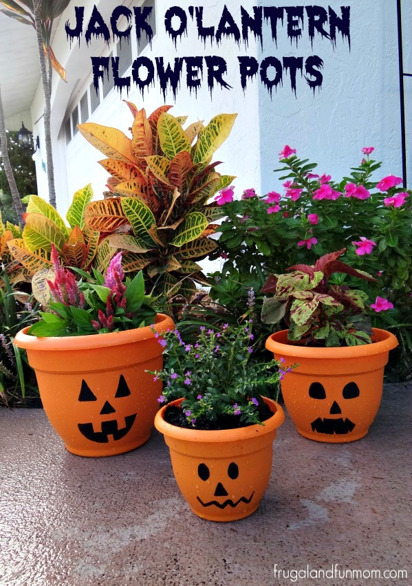 Jack O'Lantern Flower Pots ReColor Wipe New