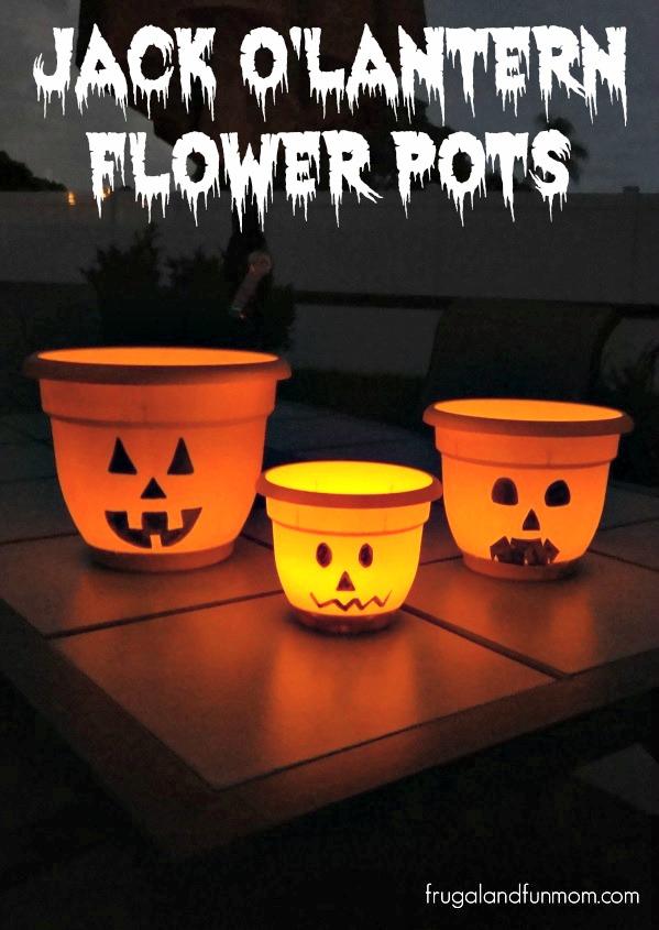 Jack O'Lantern Flower Pots! An Alternative To Using a Pumpkin for Halloween!