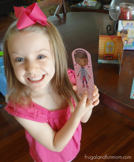 Paper Doll inside of Doc McStuffins School of Medicine