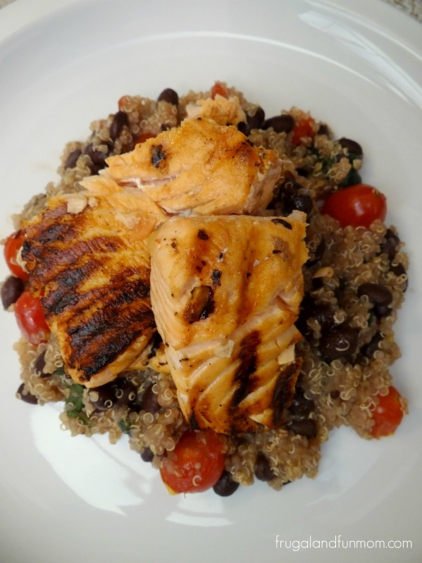 Salsa Salmon Black Bean Quinoa Recipe! Plus #HealthyFamiliesHelpingKids #ProduceForKids