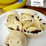 Banana Breakfast Wraps with Chocolate Chips and More!