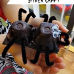 Tutorial – Egg Carton Spiders!  A Child's EASY Halloween Craft!