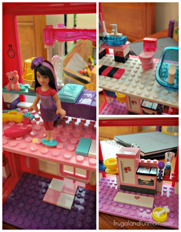 Mega Bloks Barbie Mansion Details