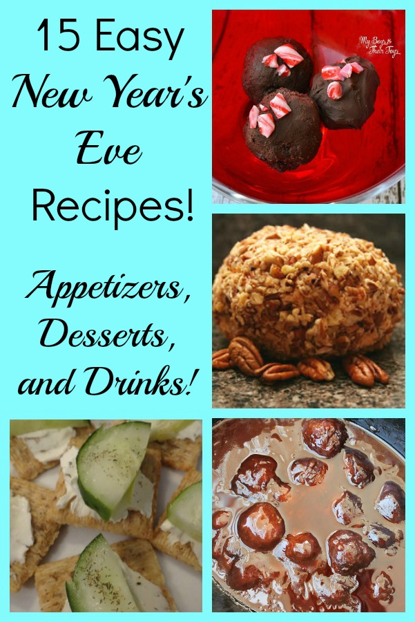 15 Simple And Cute Hairstyle Tutorials: 15 Easy New Year's Eve Recipes With Appetizers, Desserts