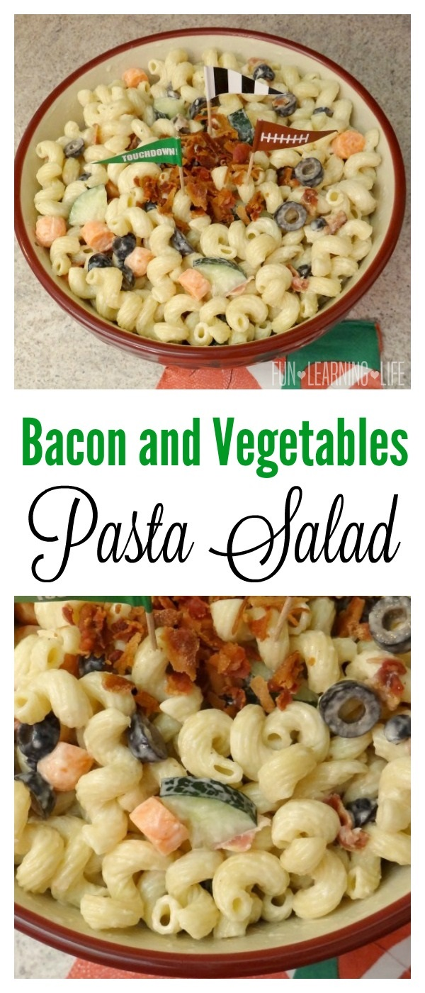 Bacon and Vegetables Pasta Salad